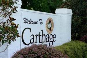 Carthage Welcome Sign