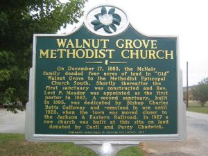 Historical Marker Walnut Grove Methodist Church